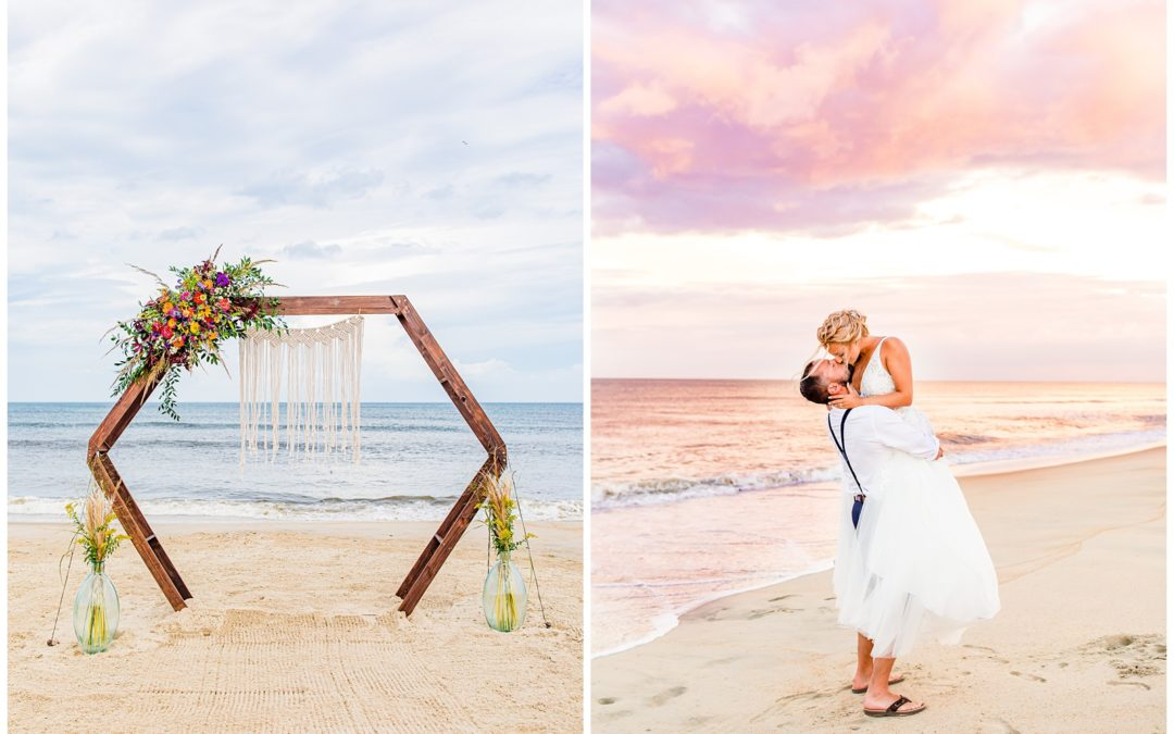 Mallory & Travis OBX Wedding