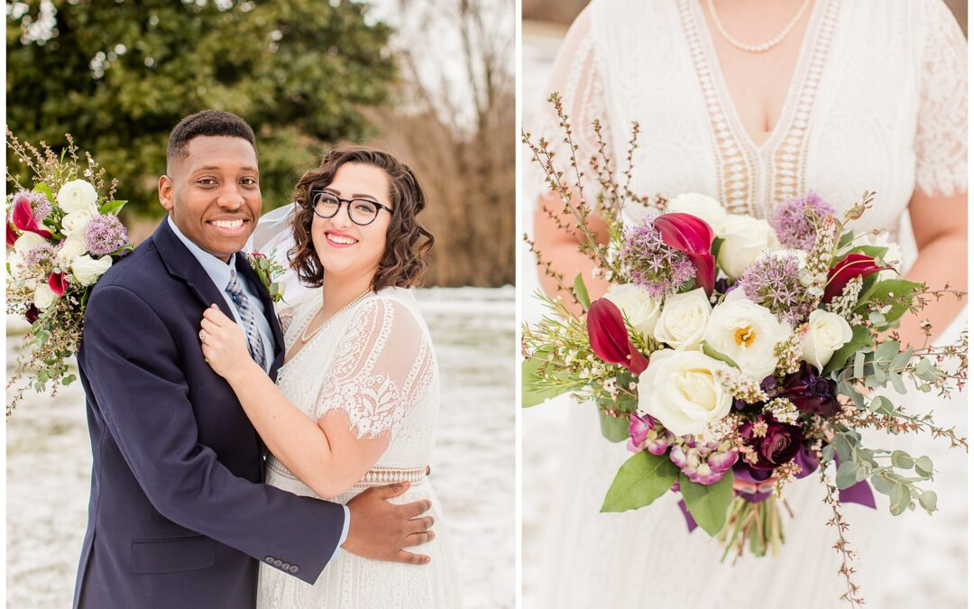 Jamal & Jessica's intimate winter wedding